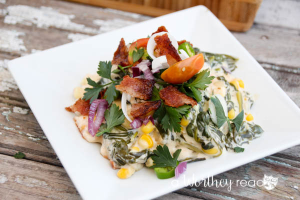 Hot Spinach & Sweet Corn Dip with Bacon-25