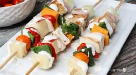 Healthy Snack Idea, Back To School Lunch Idea- Quick Salad Kabobs