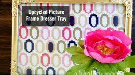I love taking old junk and creating something new. Here's an easy upcycled DIY project to try this weekend. Upcycled Picture Frame Dresser Tray