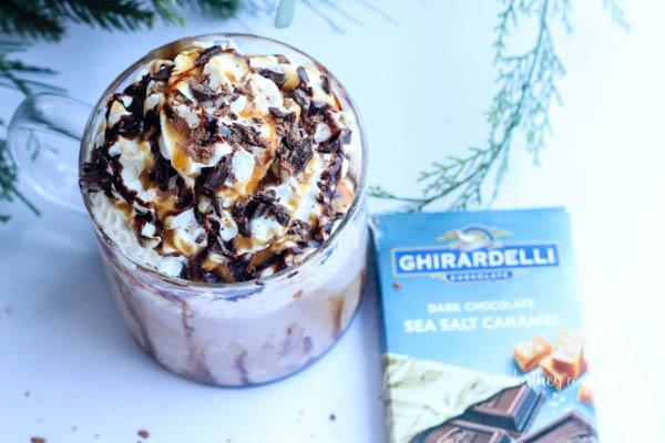 homemade hot chocolate recipe using Ghirardelli chocolate
