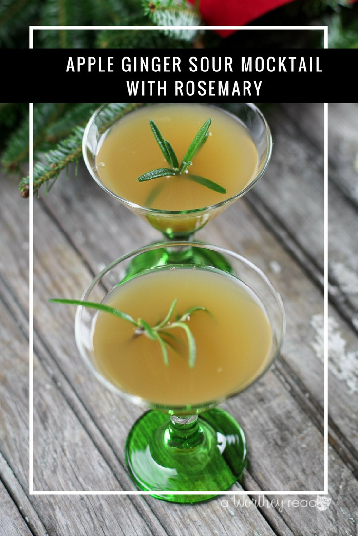 Spruce up your holiday party with this mocktail idea! Here's a great way to celebrate the holiday season with a non-alcoholic drink idea! This Apple Ginger Sour Mocktail with Rosemary will be a great holiday drink to serve this year!