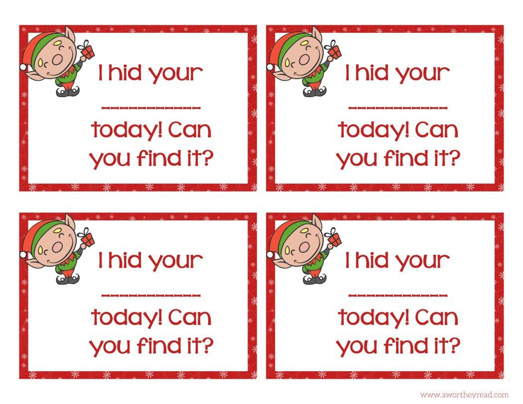 Elf On The Shelf Ideas With Printable Cards