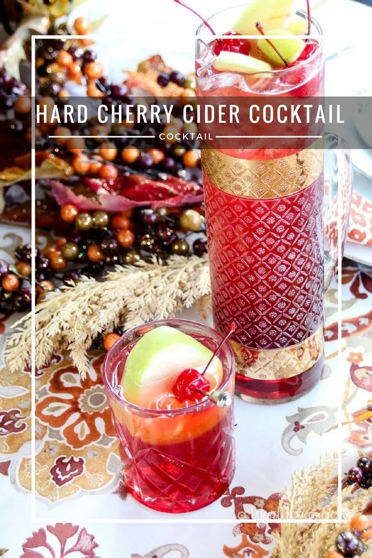 Spruce up your holiday party with this hard cider recipe- Hard Cherry Cider Cocktail