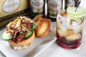 Baby Back, Herb Salmon & Bacon Slider + Cherry Cider Beer