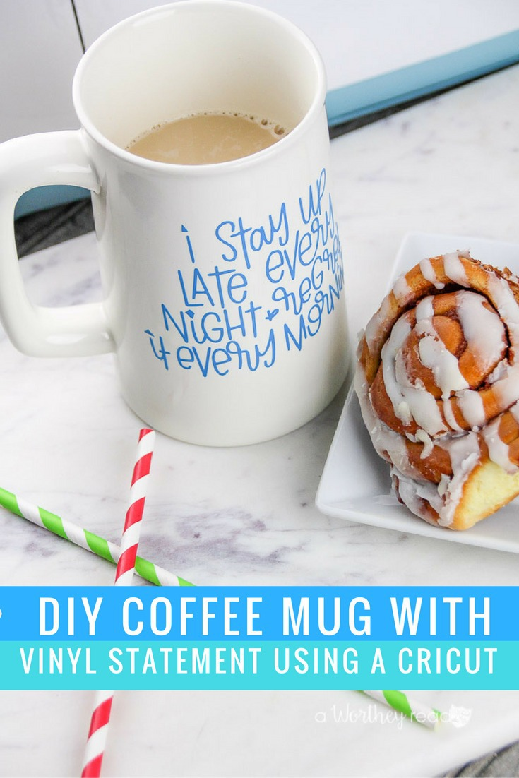 Have a Cricut or another cutting machine? Here's an easy project you can make using your Cricut. Make your own DIY Coffee Mug with Vinyl and a Cricut!