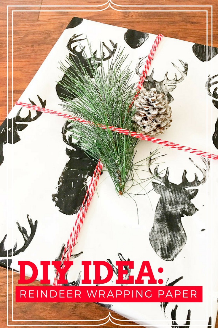 Diy reindeer wrapping paper this worthey life do you love to try new do it yourself ideas for christmas how solutioingenieria Choice Image