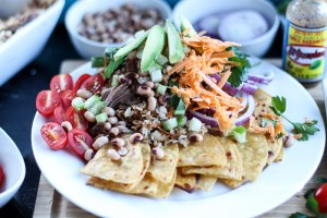 Lucky Pork & Black Eyed Peas Nachos