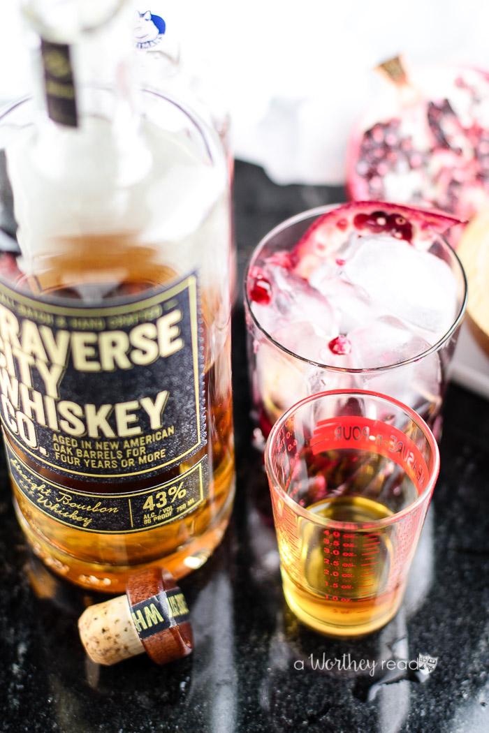 Pom Cherry + Whiskey Cocktail