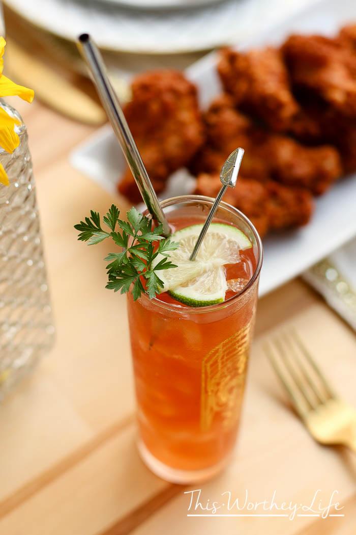 Bourbon Michelada Cocktail + Pineapple Salsa Recipe