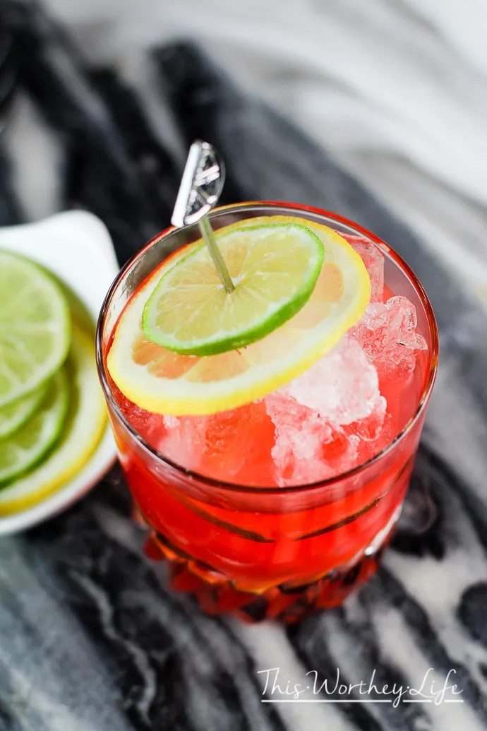 Cherry Lemon-Lime Spritzer Cocktail