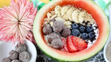 This easy yogurt bowl is filled with all the healthy things you need to keep you fueled over the summer. Try our Yogurt + Fruit Watermelon Bowl recipe!