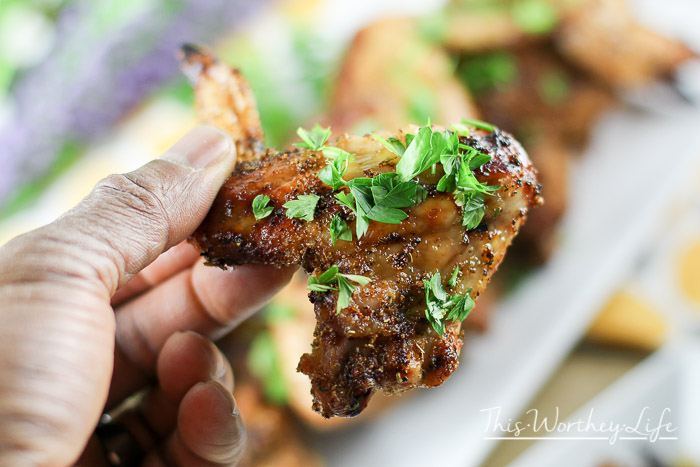 Grilled Chicken Wings Balsamic Agave Cilantro Dipping Sauce This Worthey Life Food