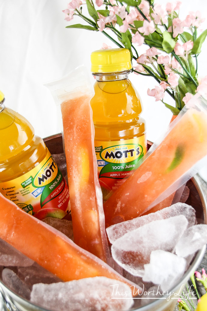 Mott's Apple Mango & Cherry Lemonade Icee Pops