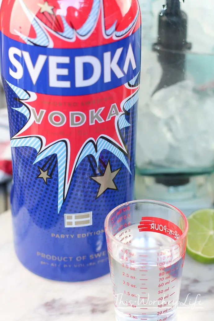 This Memorial Day or Fourth of July, turn your patriotic heart up a notch with our red, white, and blue margarita. Mixed with SVEDKA and a few other ingredients, this vodka margarita is sure to be the life of the party! Sweet Star Spangled Vodka Margarita