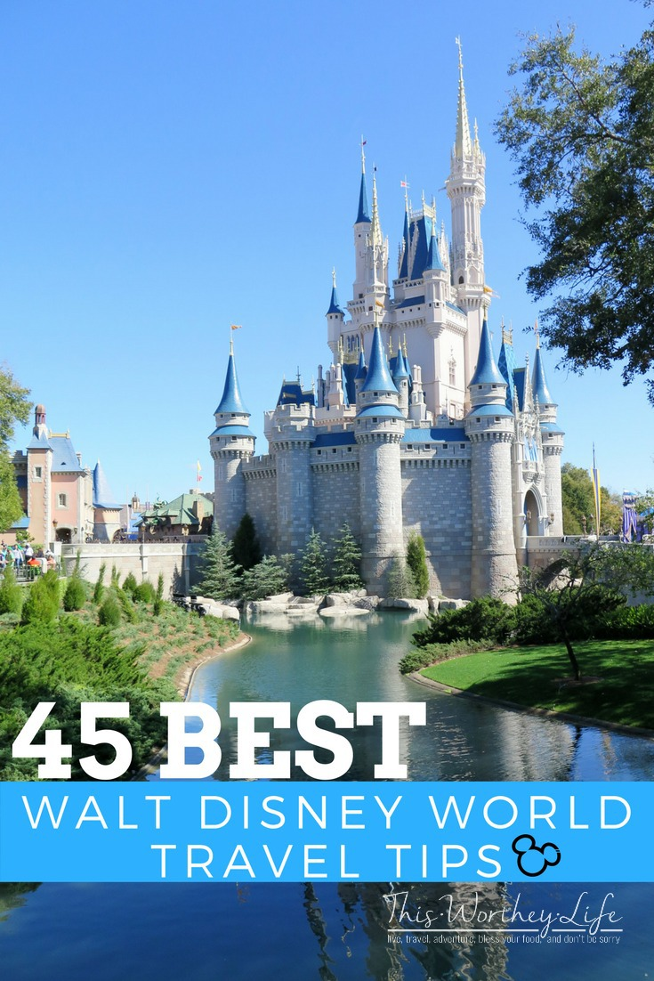 Don't miss our 45 Best Walt Disney World Travel Tips! This list is a great resource before planning your next family WDW Vacation!