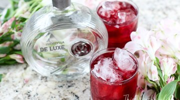 Hibiscus + Vodka Cocktail