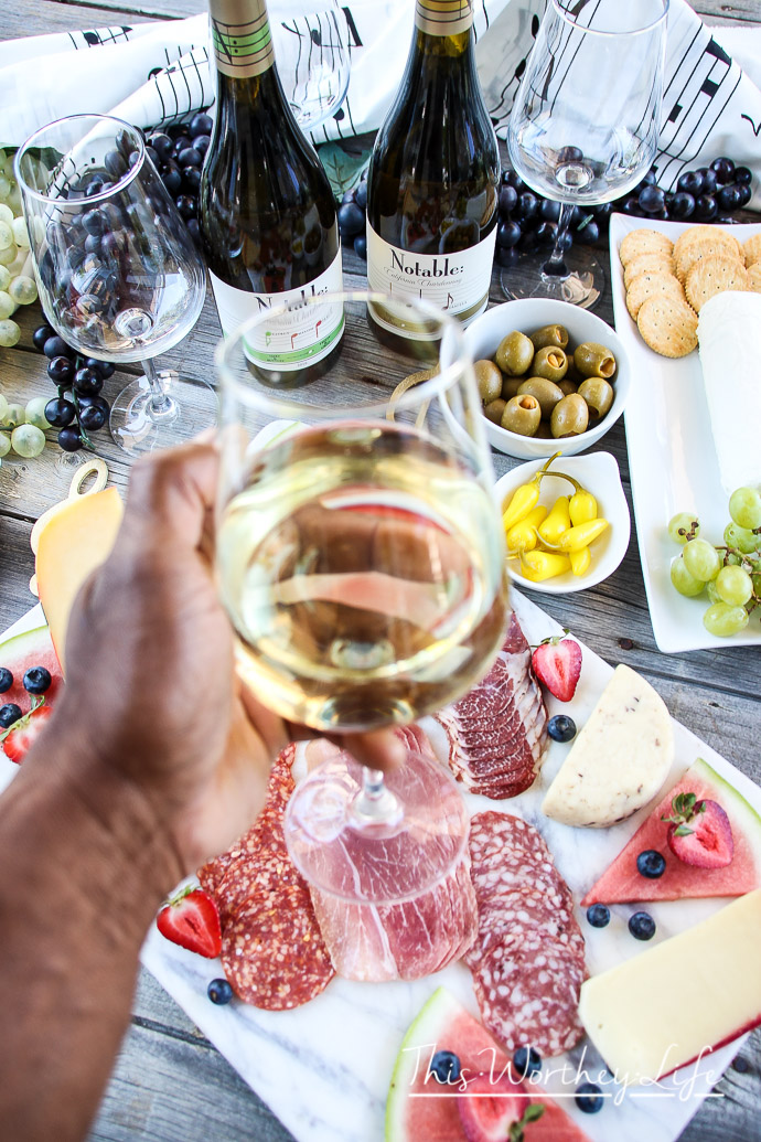 Cheese Board Idea with Wine Pairing