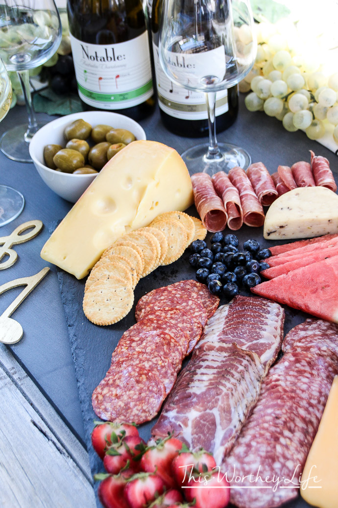 Cheese + Charcuterie Board idea