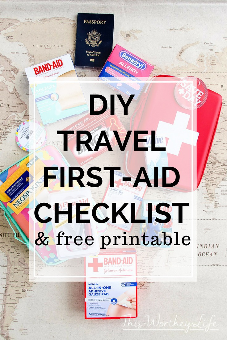 FREE Printable | DIY Travel First-Aid Kit with Printable Checklist