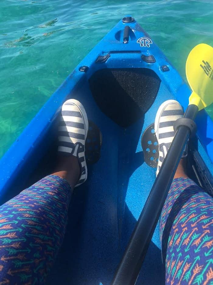 Kayaking under the straits of Mackinac