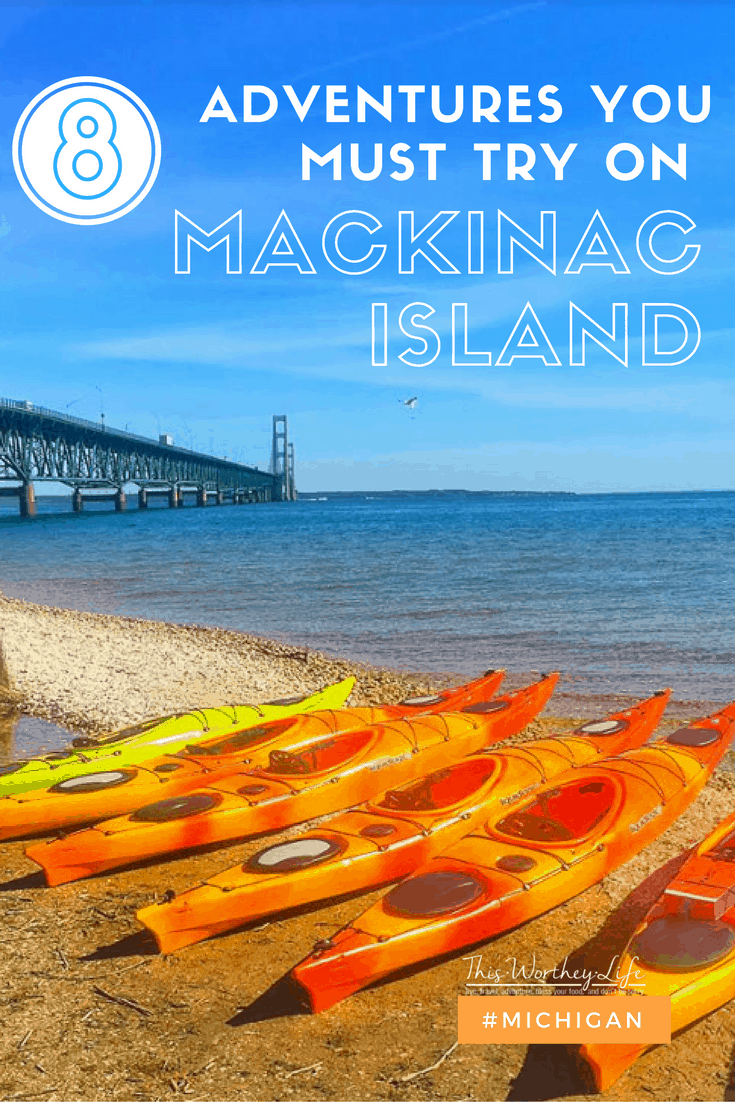 I recently came back from a few fun-filled days on Mackinac Island. I've been to Mackinac Island a few times, but staying on the Island was a first. While vacationing on the Island, I was able to try quite a few adventures for the first time, and I'm sharing my favorite ones, plus other adventures you must try on Mackinac Island, Michigan