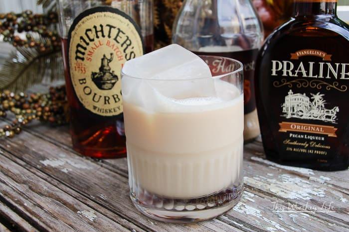 Praline + Whiskey Pumpkin Pie Cocktail