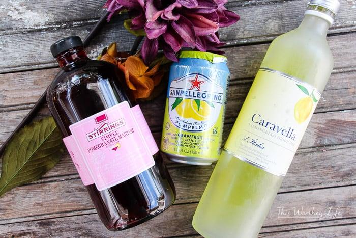 Pomegranate + Lemon Cocktail