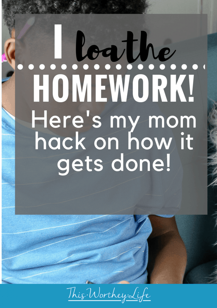 Helping kids with homework is not at the top of my bucket list. In fact, I would be happy if schools did away with homework. Until then, I'm sharing 1 surprising way I'm helping my teen do their homework with no frustration! This is my mom homework hack!