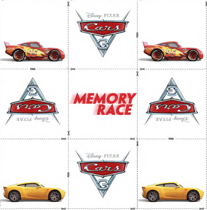Cars 3 printable activities