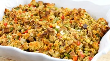 Easy Cornbread Dressing Recipe with Jiffy Mix Cornbread