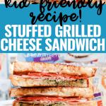 Pizza Stuffed Grilled Cheese Sandwich- Kid-Friendly Recipe!