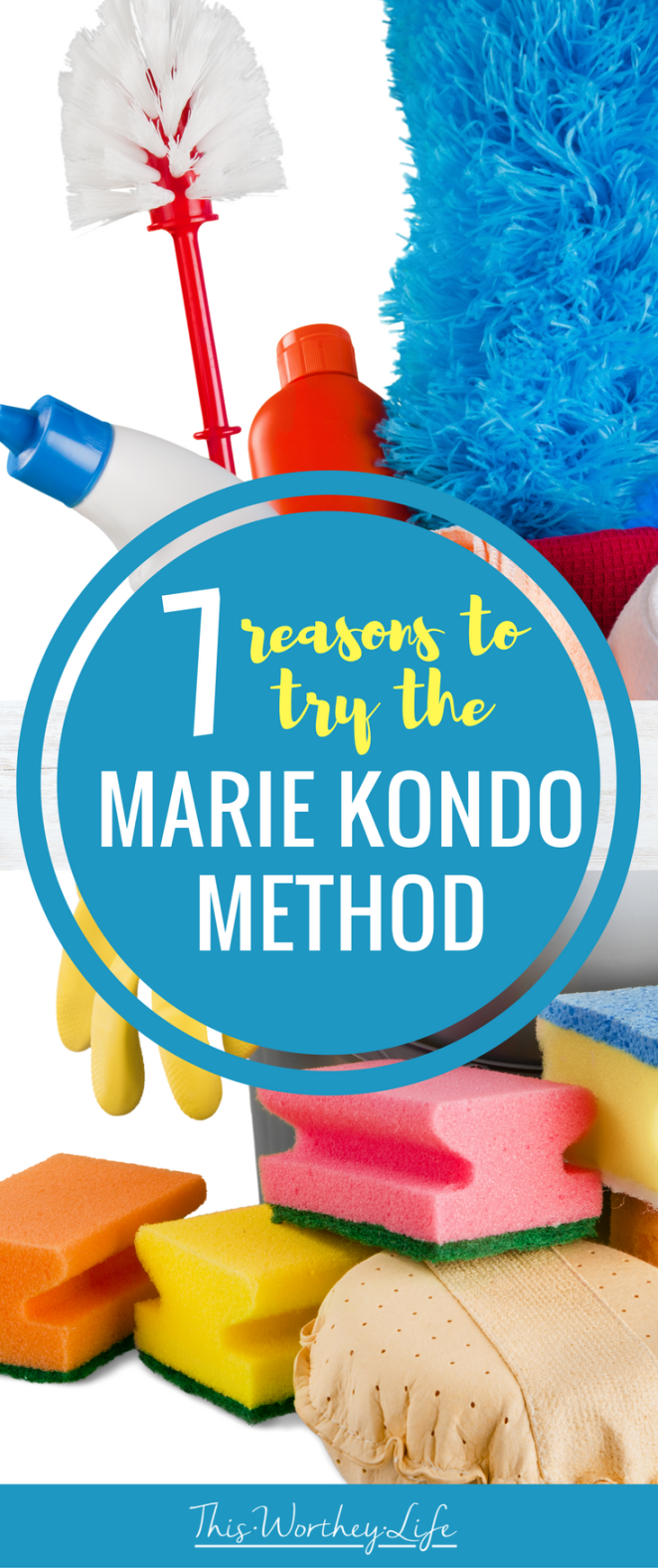 You may have heard about the Marie Kondo Method around the internet, and maybe even tried it. If not, I'm sharing 7 reasons to try the Marie Kondo Method and how this way of cleaning and organizing will be a game-changer.