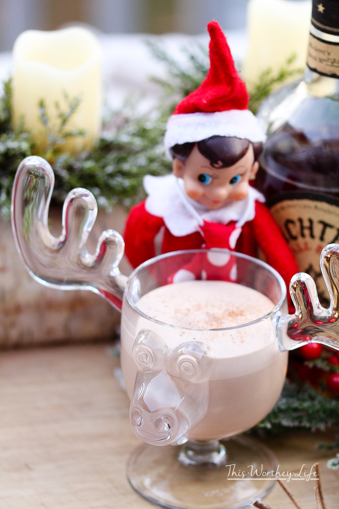 Naughty Elf on the Shelf with Bourbon
