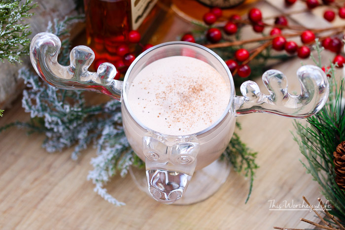 Want an eggnog recipe that doesn't require eggs? Try our Boozy Bourbon Eggnog inspired by Cousin Eddie from National Lampoon's Christmas Vacation. - Eddie's Boozy Bourbon Eggnog