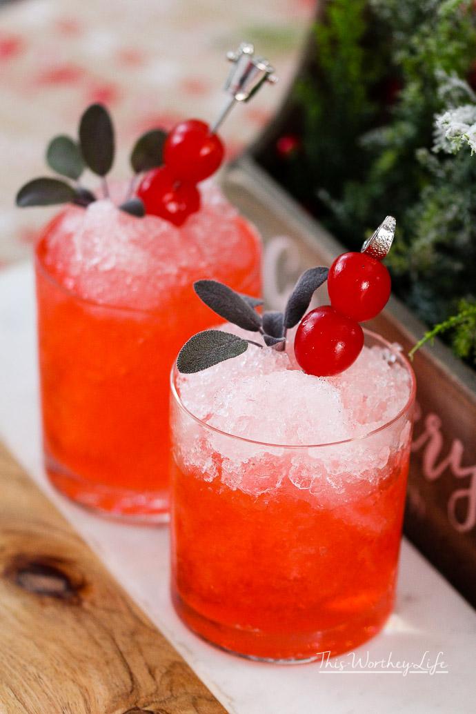 Cherry Christmas Mocktail-1