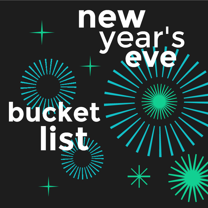 Create a fun New Year's Eve Bucket List this year with our 15 things to do before Midnight. Make fun memories that won't end at midnight, but live on forever.