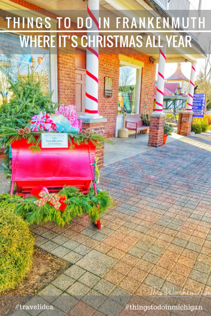 Craving a small Christmas town? Head to Frankenmuth, Michigan, one of the best small Christmas towns in the Midwest. People come from all over the world to Frankenmuth to immerse in all things Christmas. I'm sharing some of the best things to do in Frankenmuth, where it's Christmas all year!