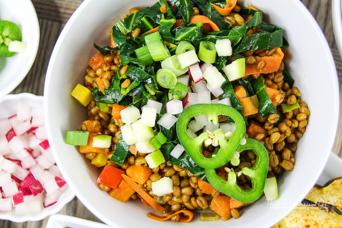 The Best Stir-Fried Wheat Berries