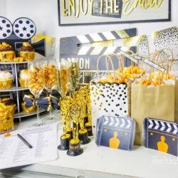 Gold Oscar Party Idea