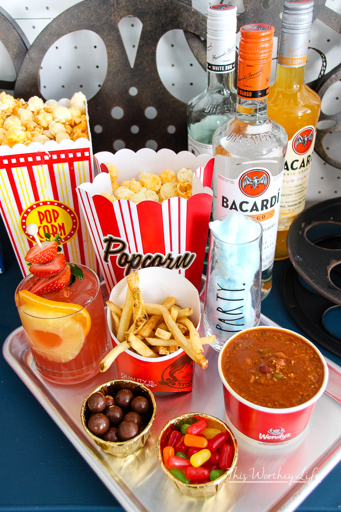 Movie Night In with Wendy's + Barcardi