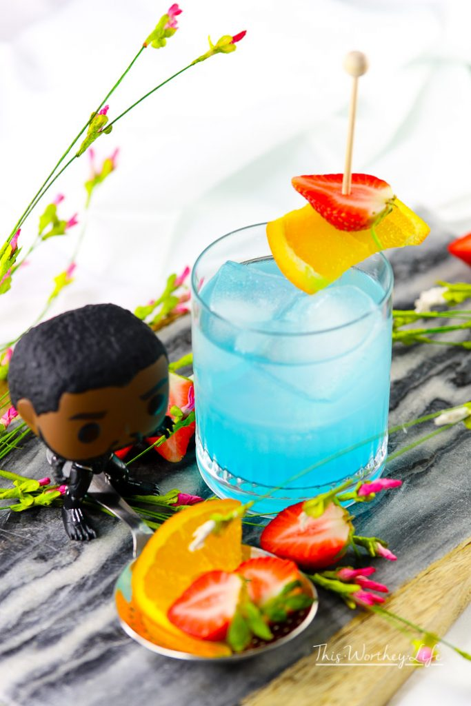 Learn how to make the Vibranium Black Panther Cocktail with hypnotic liquor