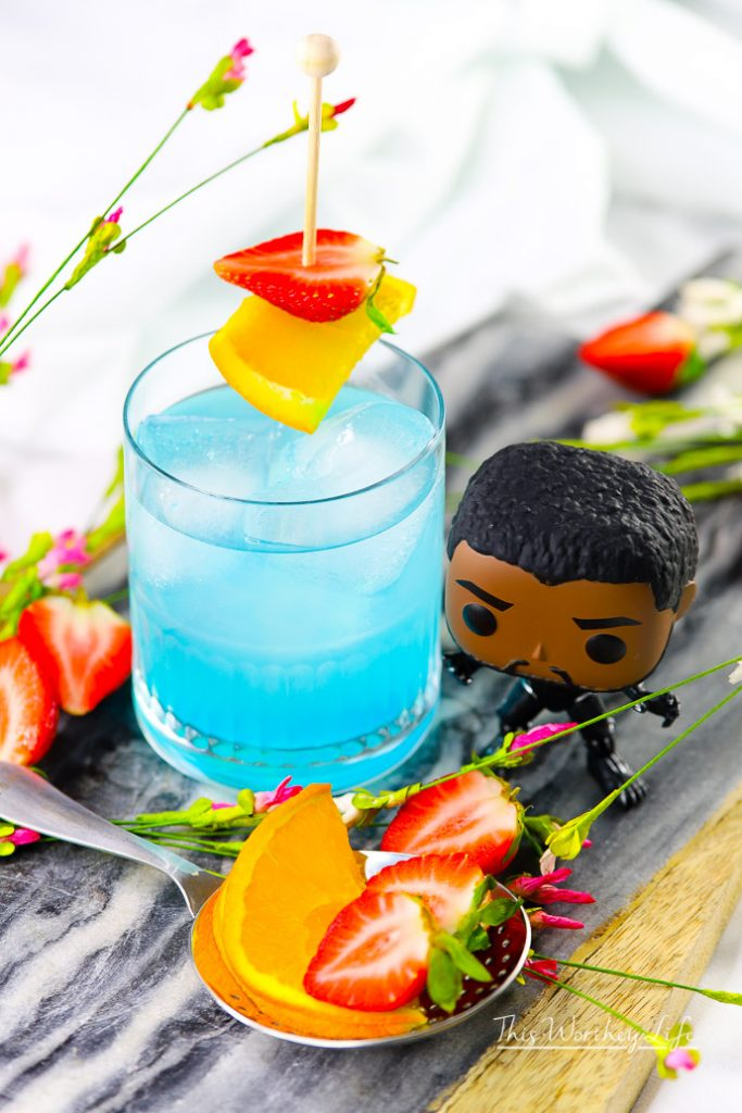 Black Panther Cocktail | The Vibranium Cocktail with Hpnotiq