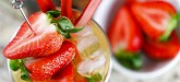 Rhubarb & Strawberry Bourbon Cocktail - easy summer cocktail to try with fresh strawberries and rhubarb