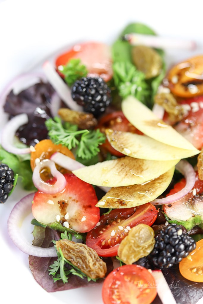 Summer Salad Recipe - Berry + Apple Summer Salad