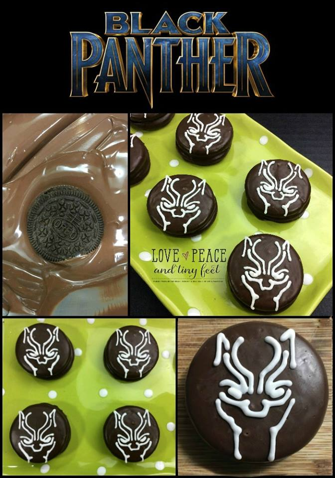 Black Panther Styled Oreo Cookies