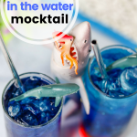 It's Shark Week! If you're looking for a fun, themed shark drink to try, this blood in the water mocktail is great for everyone!