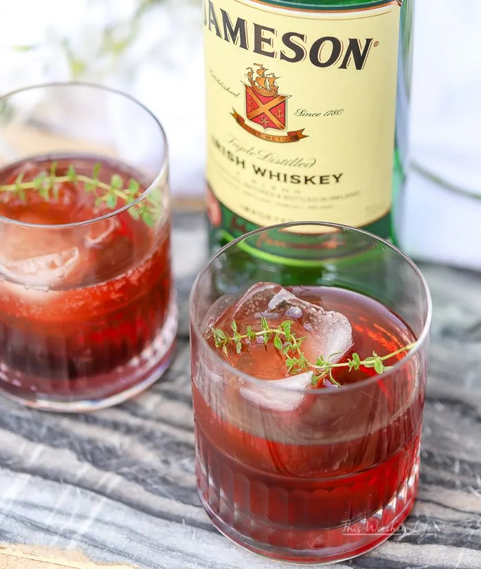 Summer Cocktail ideas using Jameson Whiskey and cherries