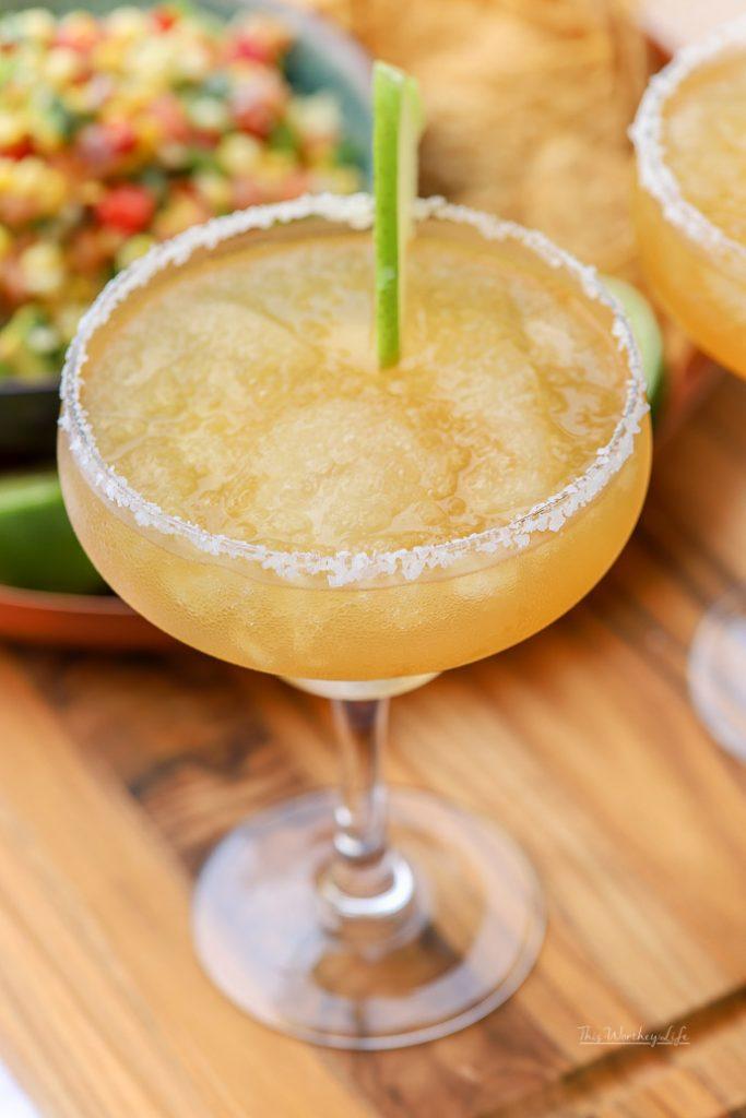 The Best Frozen Apple Cider Margarita
