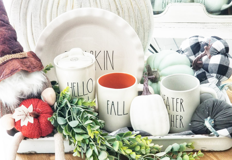 Happy Fall Rae Dunn Fall Display Idea This Worthey Life Food