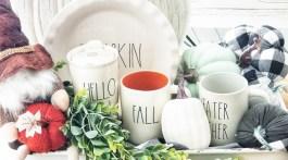 Fall Decor ideas using Rae Dunn